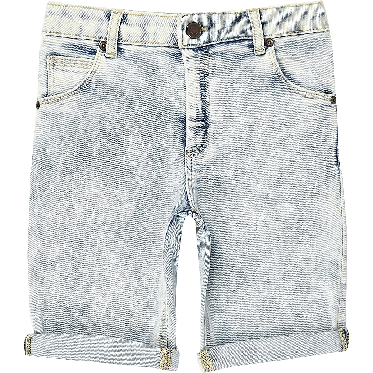 ae4d2be7c5 Boys blue wash Dylan slim fit shorts