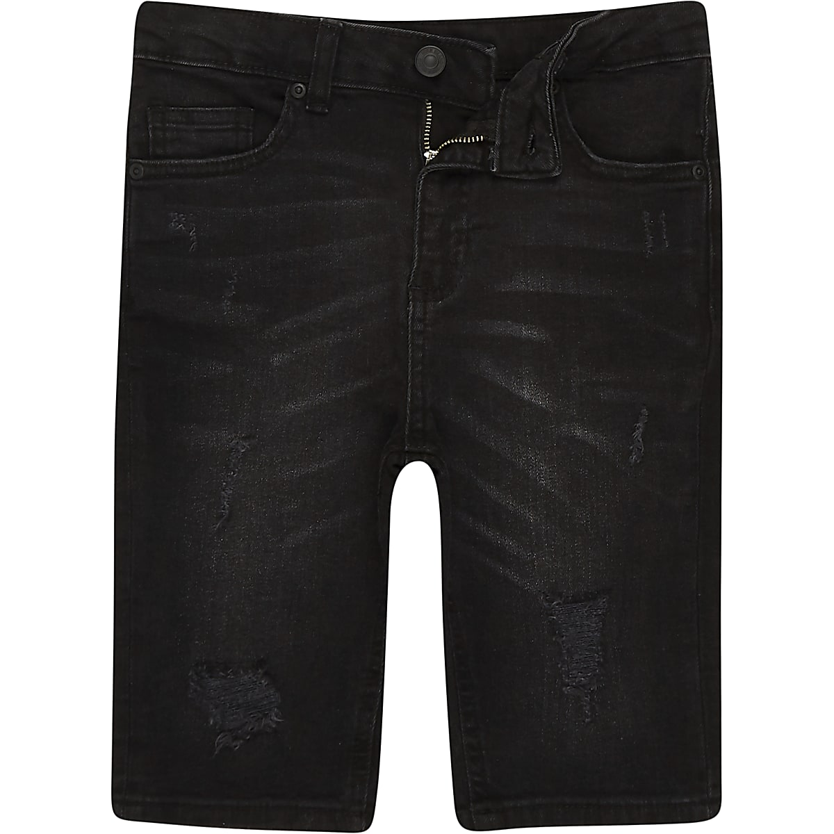 dedba559be Boys black Sid washed ripped denim shorts - Denim Shorts - Shorts - boys