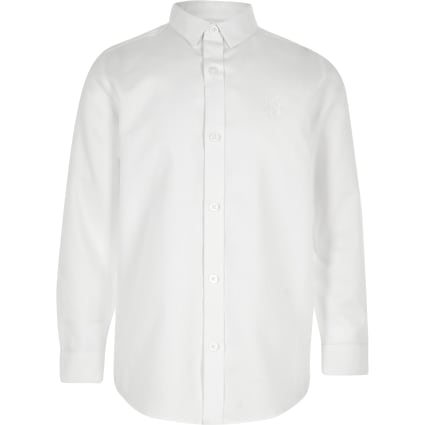 Boys white RI long sleeve shirt