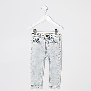 Sid blue wash skinny jeans voor mini boys
