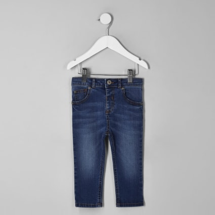 Mini boys light blue Sid skinny jeans