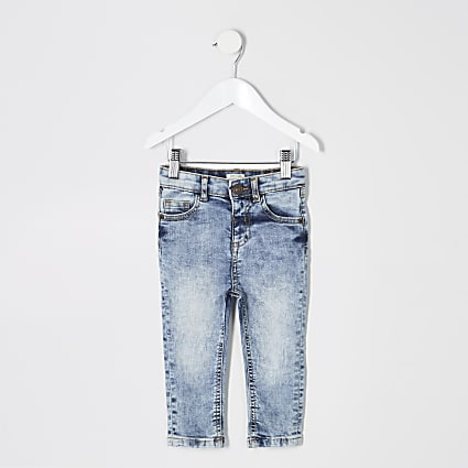 Mini boys light blue Sid skinny wash jeans