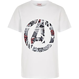 59d6cb3f Boys white Marvel Avengers T-shirt