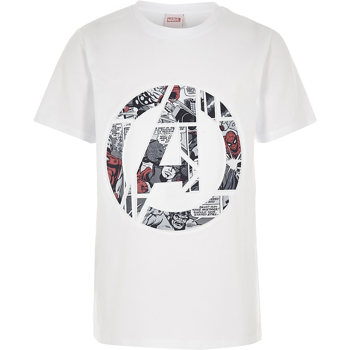 Boys white Marvel Avengers T-shirt