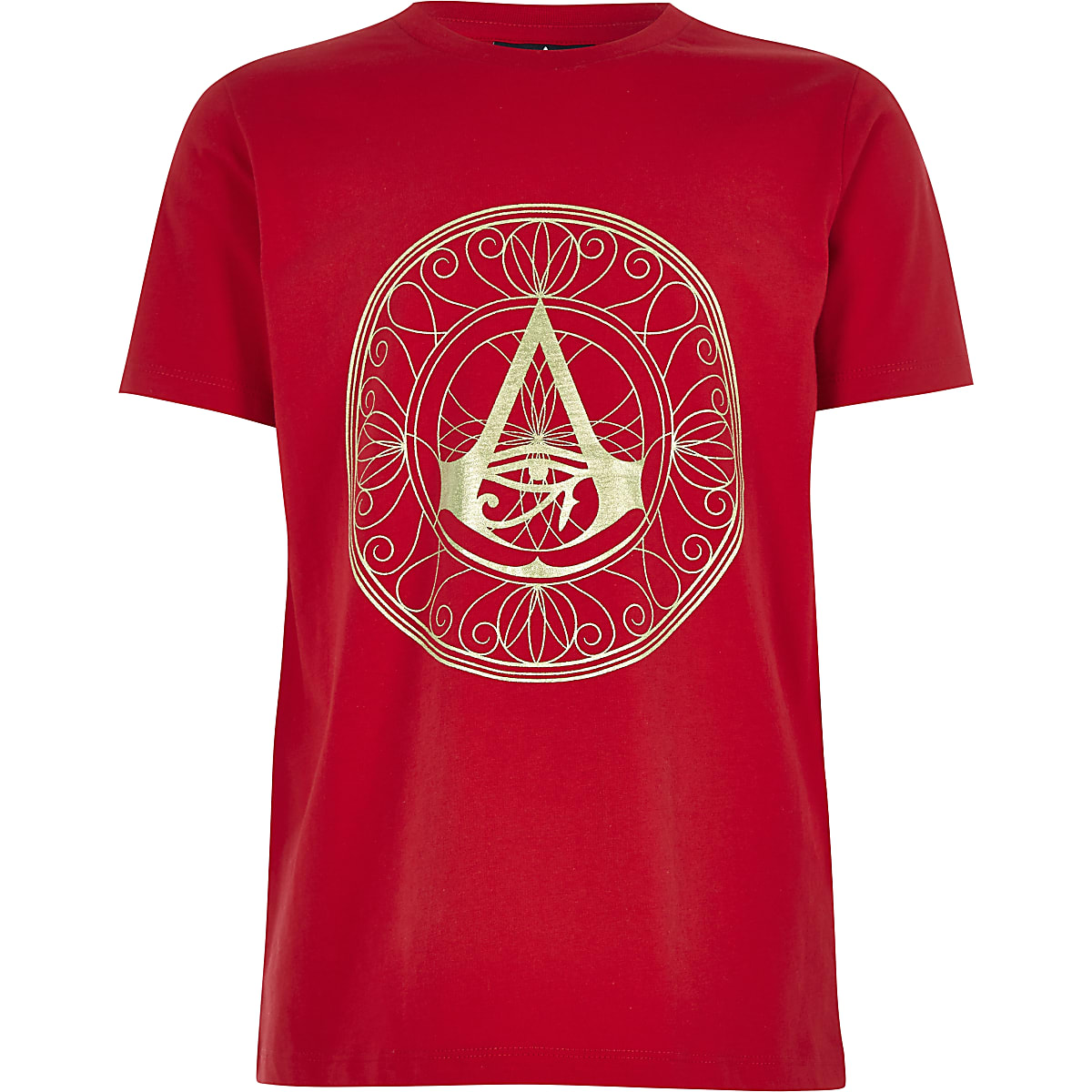 Boys red Assassin's Creed foil print T-shirt