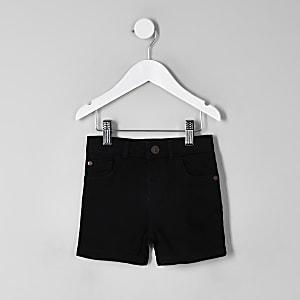 Dylan - Mini - Zwarte denim short voor jongens