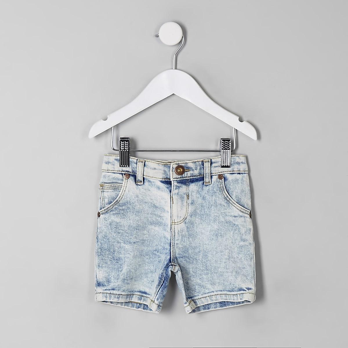 Mini boys light blue Dylan denim shorts