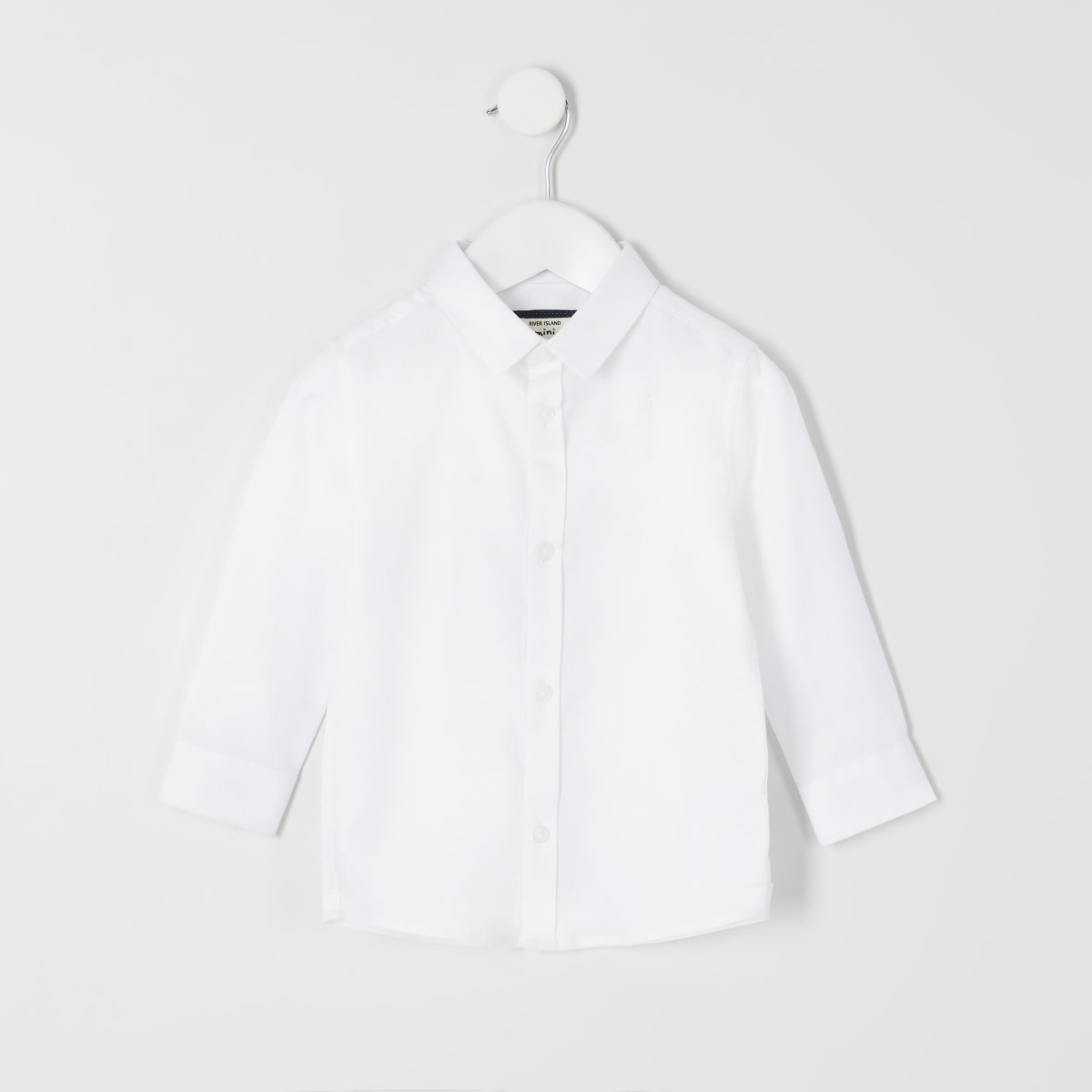 Mini boys white RI long sleeve shirt