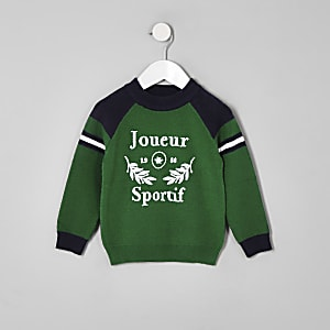 "Grüner Pullover ""Joueur sportif"""