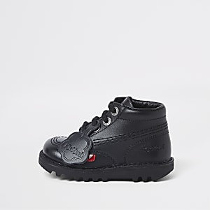 Kickers – Bottes noires à lacets mini enfant