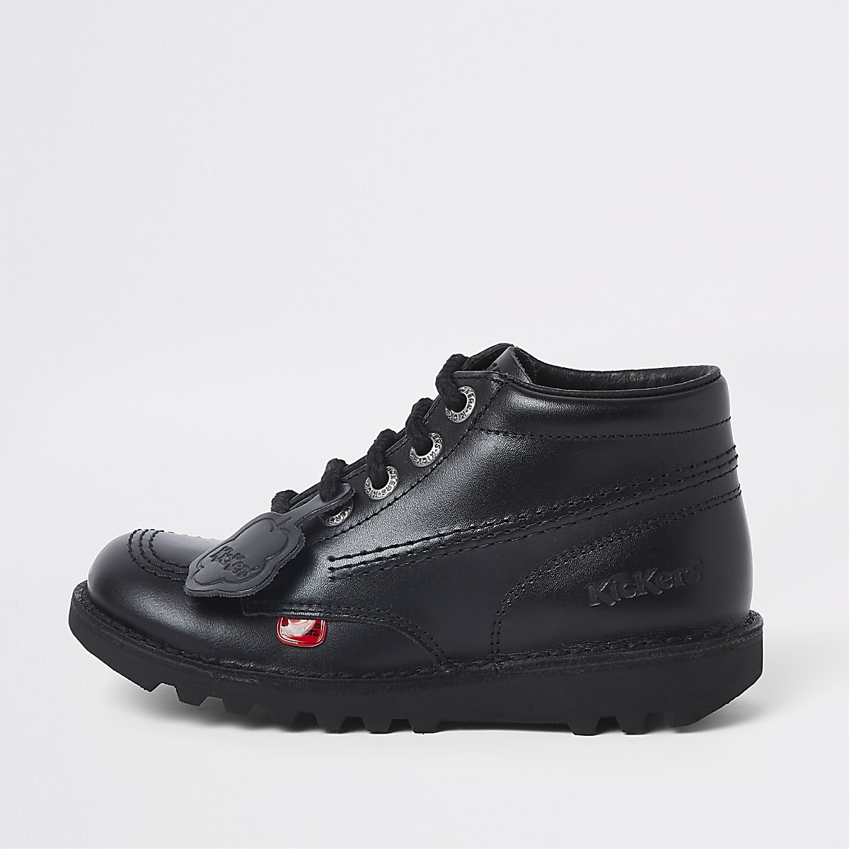 Kids black Kickers lace-up boots