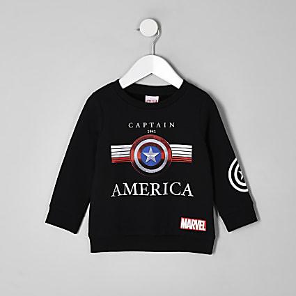 Boys black Captain America Marvel sweatshirt