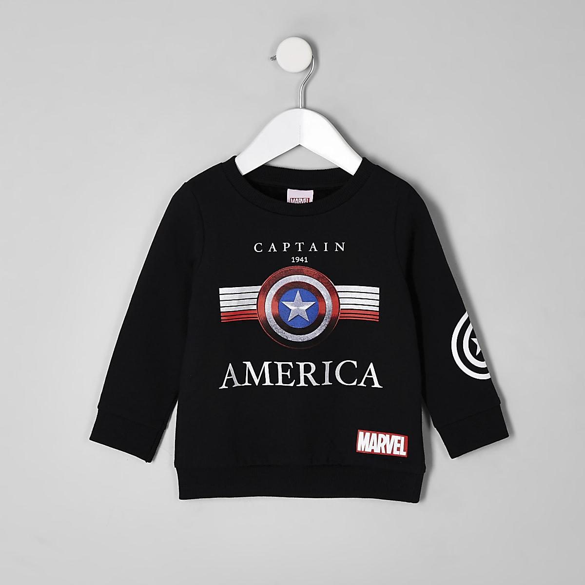 """Schwarzes Sweatshirt mit """"Captain America""""-Motiv für Jungen"""