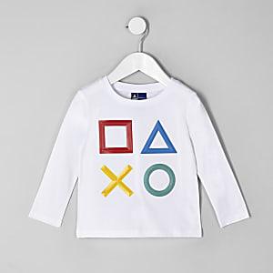 T-shirt Playstation blanc mini garçon
