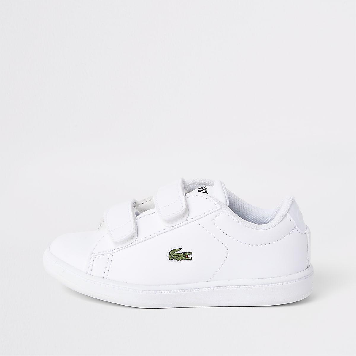 Mini kids Lacoste white Velcro trainers