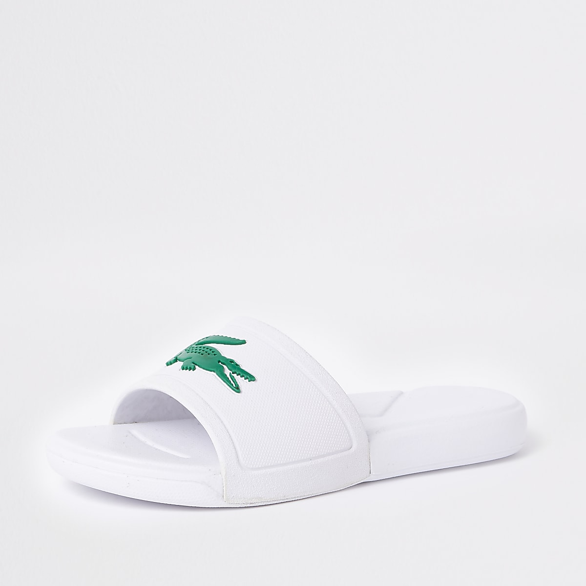 c5ddc6bc0afb Kids Lacoste white embossed sliders - Sandals - Footwear - boys