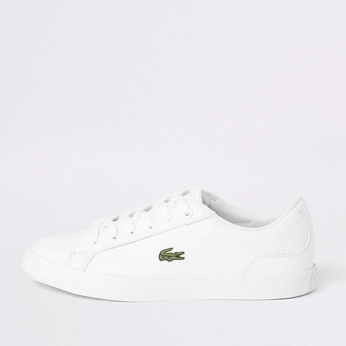 Lacoste - Witte vetersneakers voor kinderen