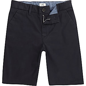 Dylan – Marineblaue Slim Fit Chinoshorts