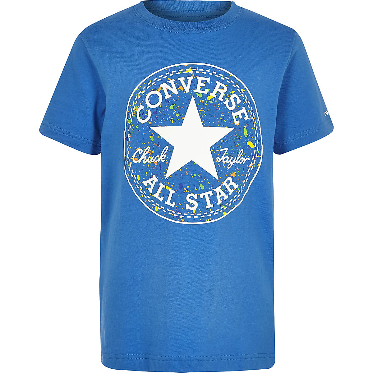 Converse – Blaues T-Shirt mit Logo