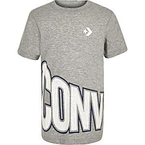 Boys grey Converse wrap logo print