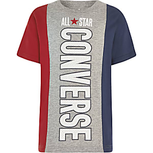 Boys grey Converse block T-shirt