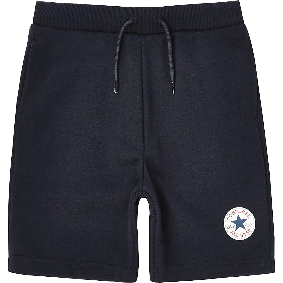 Boys navy Converse jersey shorts