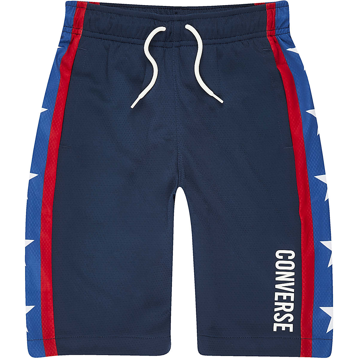 Boys navy Converse jersey shorts