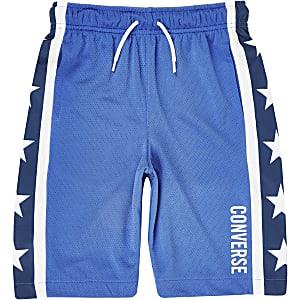 Converse - Blauwe short met sterrenprint voor jongens