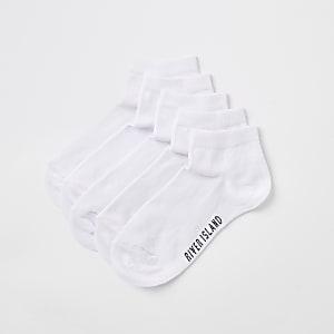 Weiße Sneaker-Socken, Set