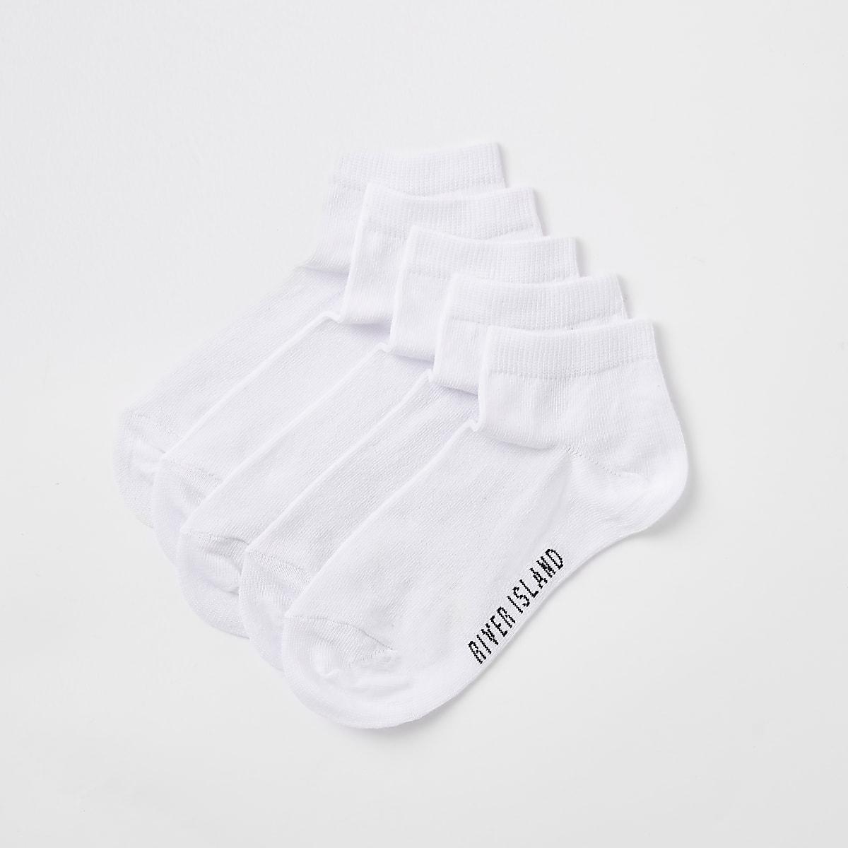 Boys white RI trainer socks multipack