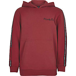 Boys red 'Ninety four' tape hoodie