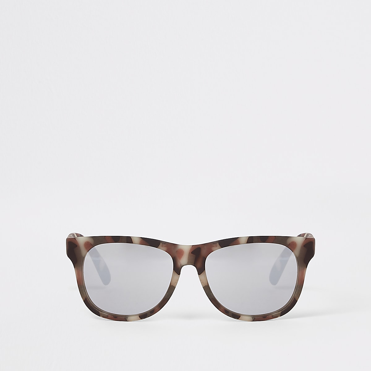 Kaki retro zonnebril met camouflageprint voor jongens