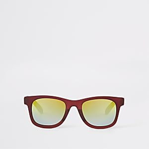 Mini boys red tinted lens retro sunglasses
