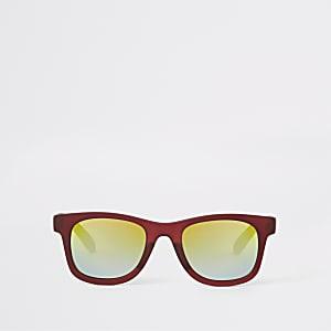 Lunettes de soleil rétro rouges à verres teintés pour mini garçon