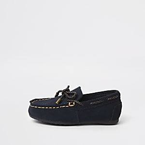 Mini boys navy driver shoes