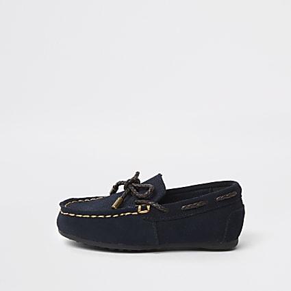 Mini boys navy driver shoes
