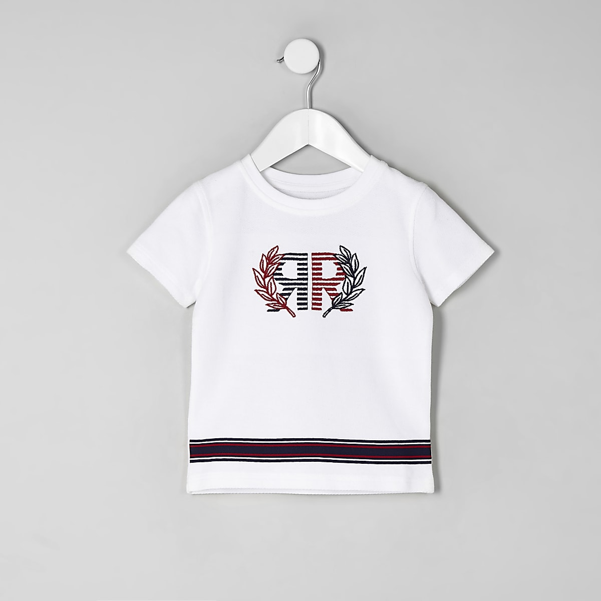 Mini boys white RI pique T-shirt