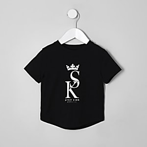 Mini boys black 'style king' T-shirt