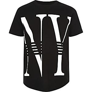 Zwart T-shirt met 'NY'-print voor jongens