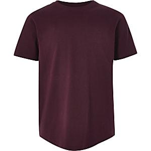 Bordeauxrood T-shirt met korte mouwen voor jongens