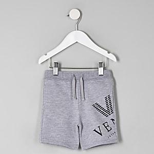 "Grau melierte Shorts mit ""Venti""-Print"