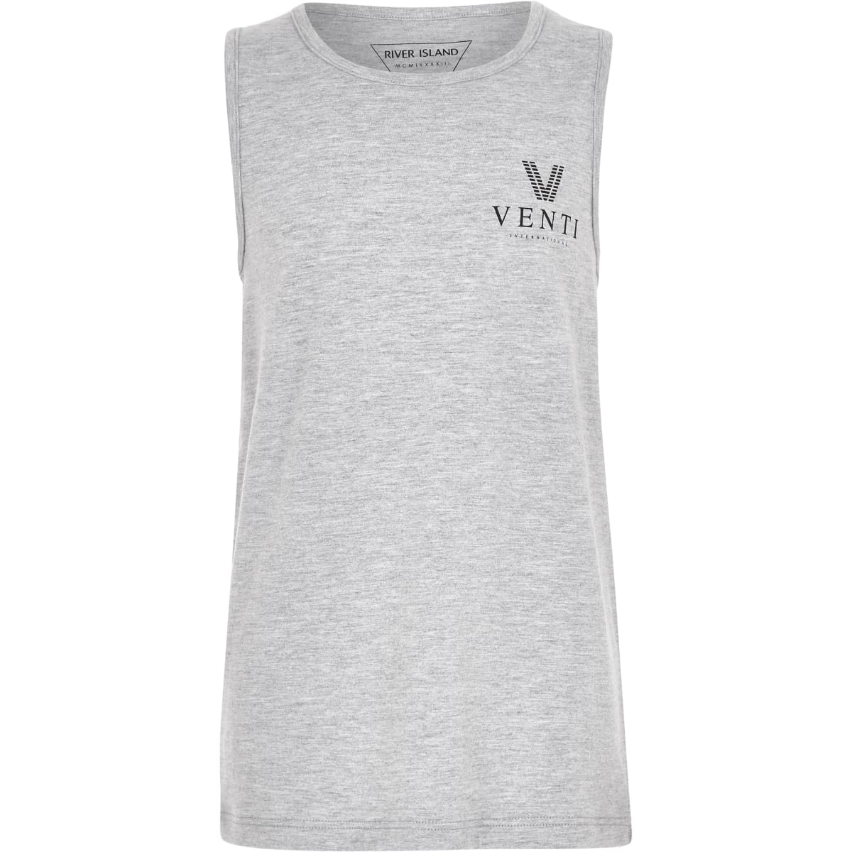 Boys grey marl 'Venti' tank