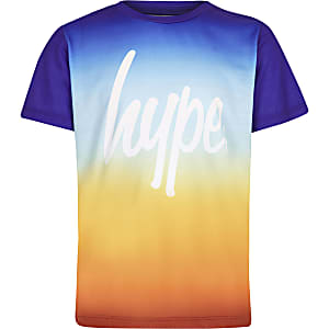 Boys orange Hype sundown fade T-shirt