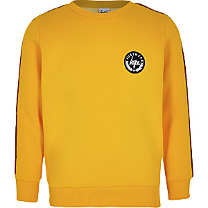 Boys yellow Hype tape sweatshirt