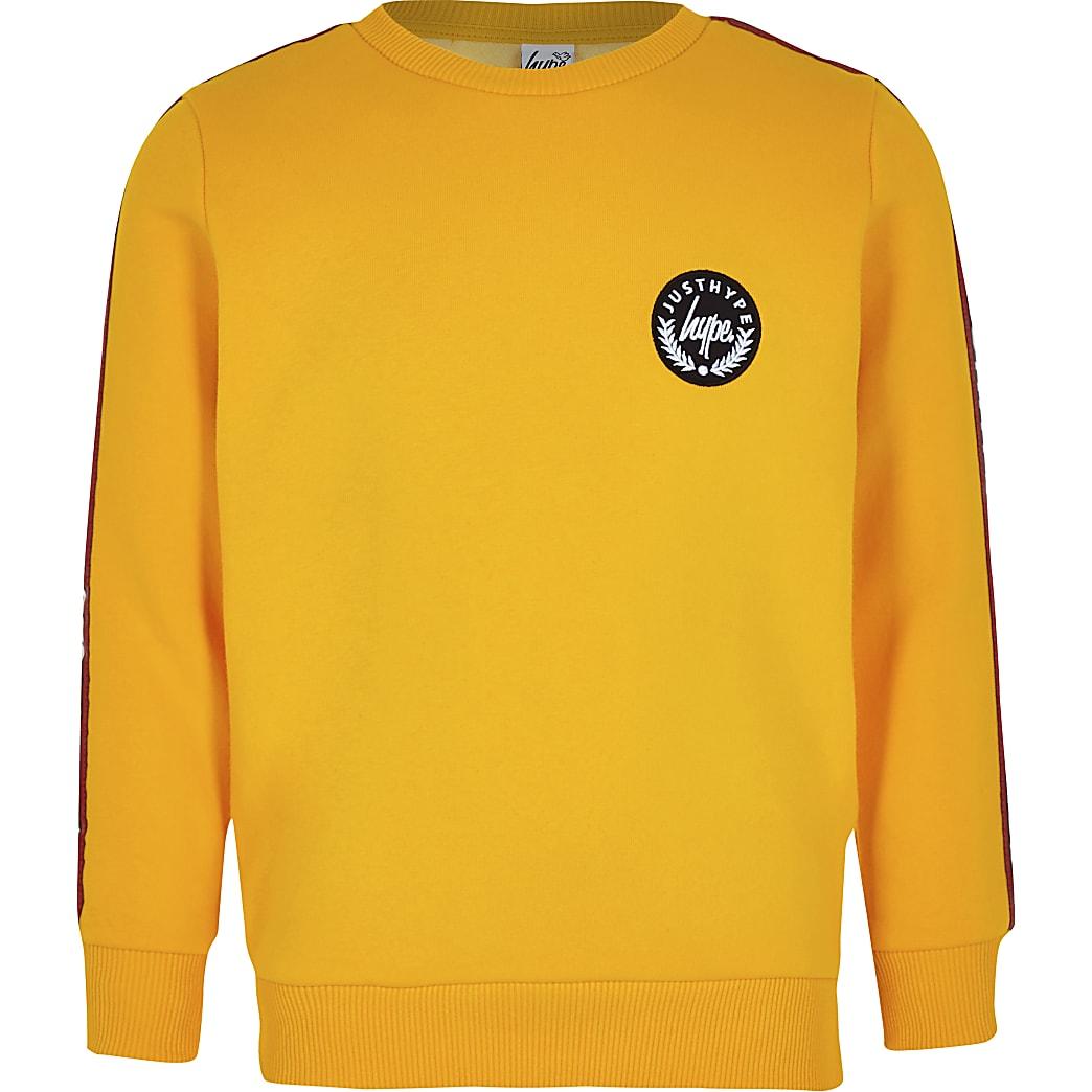 Boys yellow Hype tape sweatshirt