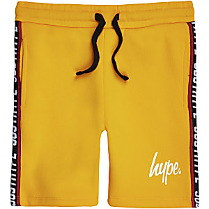Boys Hype yellow tape shorts