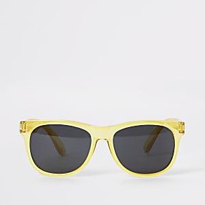 Gele retro zonnebril voor jongens