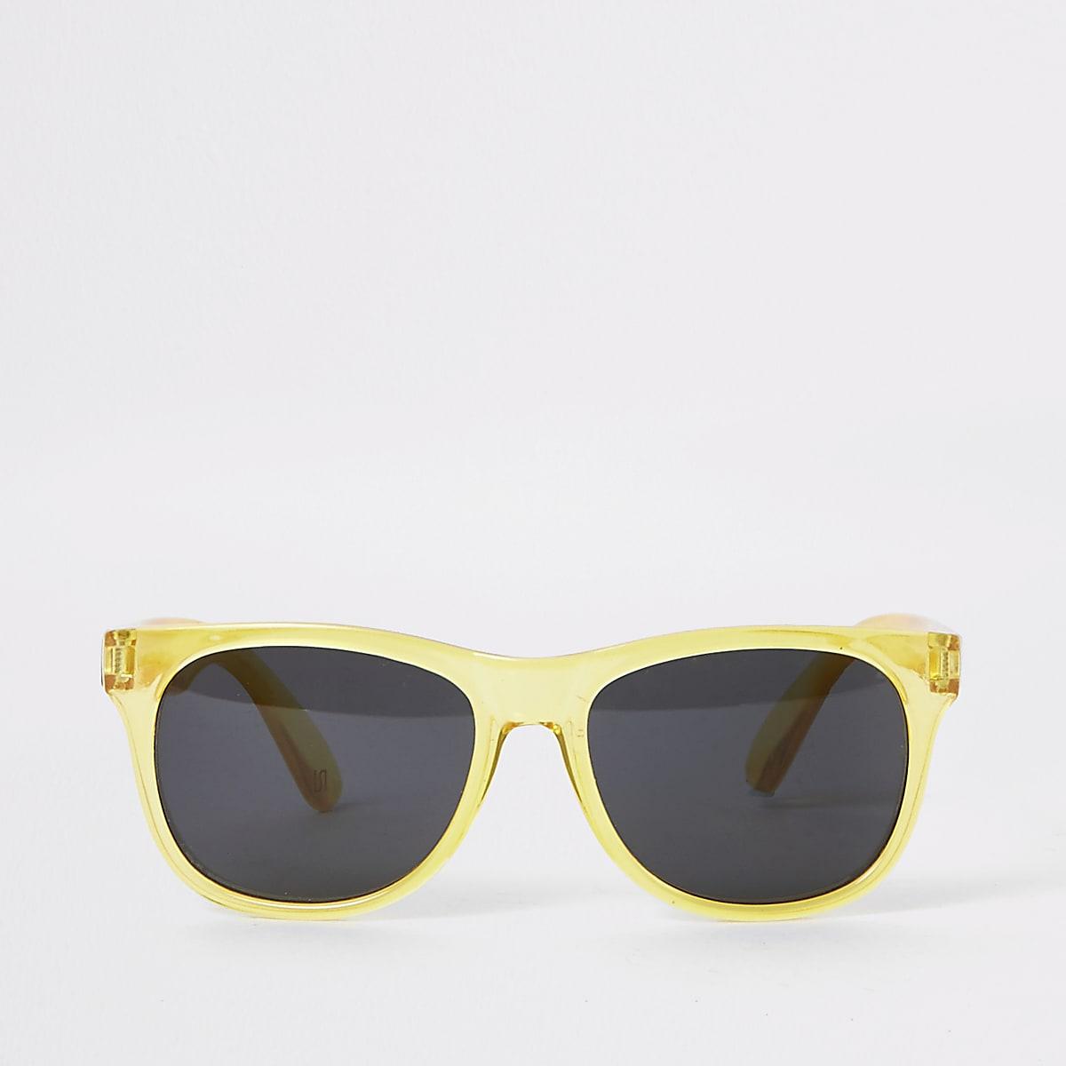 Boys yellow retro sunglasses