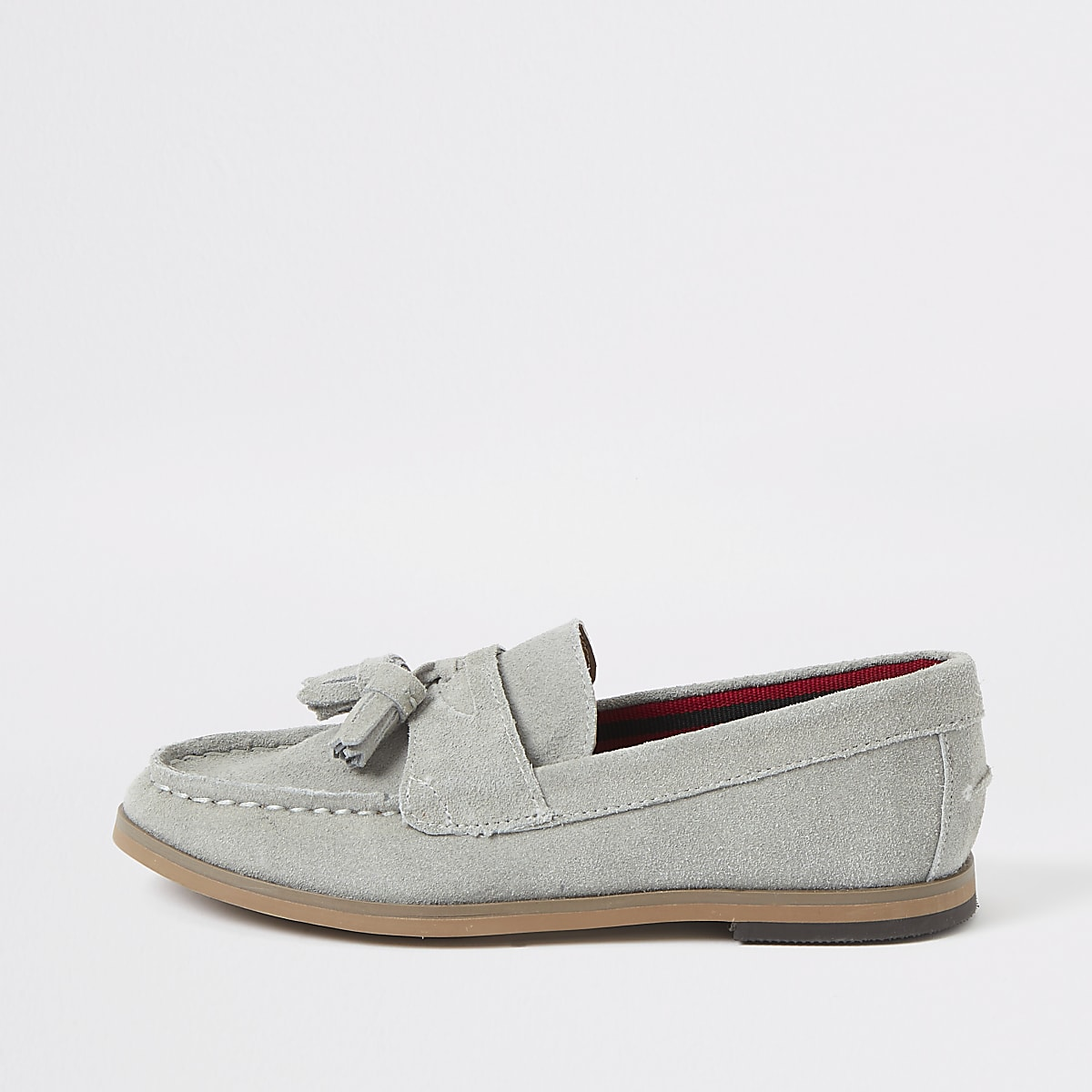 Boys light blue tassel loafers