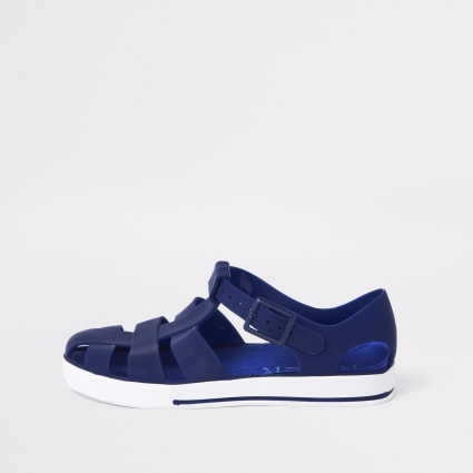 Boys navy jelly sandals